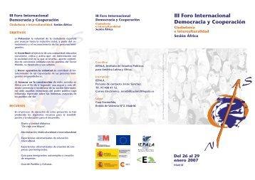 III Foro Internacional Democracia y Cooperación - memoria IEPALA
