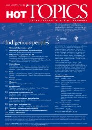 Indigenous peoples - Legal Information Access Centre - NSW ...