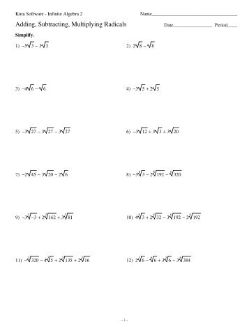 Solving Algebraic Expressions Worksheets - Templates and Worksheets