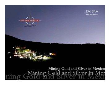 Disclaimer Disclaimer - Starcore International Mines Ltd.