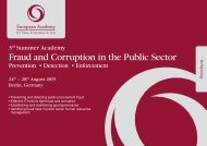 3rd Sumemr Academy Fraud and Corruption in the Public Sector