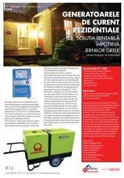Generatoarele de curent rezidențiale, soluția rentabilă împotriva iernilor grele