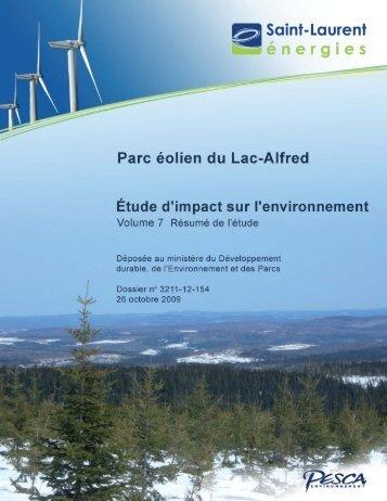 Volume 7– Résumé,26 octobre 2009, 34 pages et annexe - EDF EN