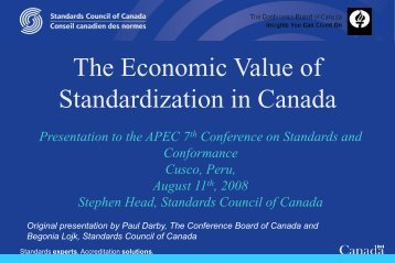 Canadian Long-Term Forecast - APEC Standards Education Initiative