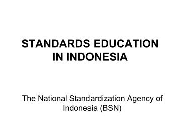 Standards Education in Indonesia - APEC Standards Education ...