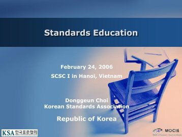 I – Australia - Future Actions - APEC Standards Education Initiative