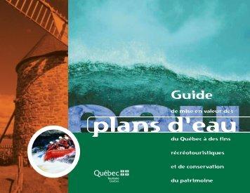 Guide de mise en valeur des plans d'eau - Tourisme Québec