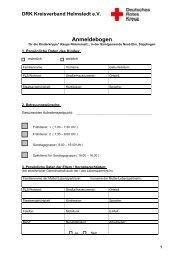 Anmeldebogen - Samtgemeinde Nord-Elm