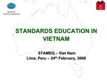 Standardization activities in Viet Nam - APEC Standards Education ...