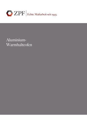 Aluminium- Warmhalteofen