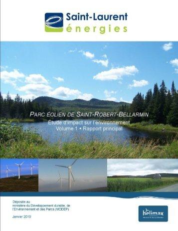 Volume 1 - Étude d'impact, rapport principal, janvier 2010 ... - EDF EN