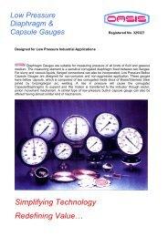 Low Pressure Diaphragm & Capsule Gauges - Calcuttayellowpages ...