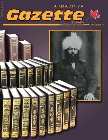 Pearls of Wisdom - Ahmadiyya Gazette Canada
