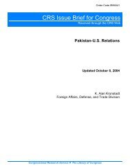 Pakistan-U.S. Relations - Foreign Press Centers - US Department of ...