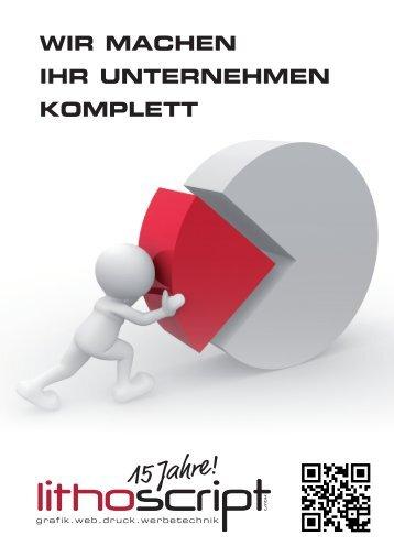 15 Jahre! LithoScript Mediaagentur - Grafik Web Druck Werbetechnik Ingolstadt