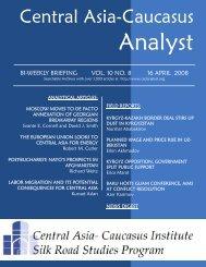 The Central Asia-Caucasus Analyst