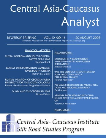 Alman Mir Ismail - The Central Asia-Caucasus Analyst