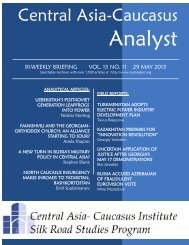 Central Asia-Caucasus - Central Asia and Caucasus Analyst