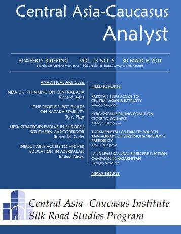 Central Asia-Caucasus Institute and Silk Road Studies Program