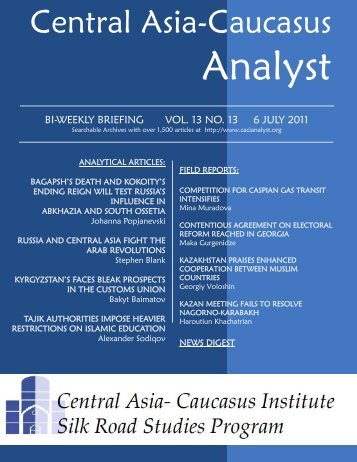 No. 13, July 7 issue - Central Asia-Caucasus Institute and Silk Road ...