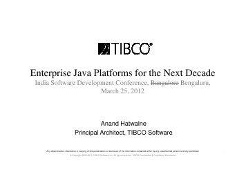 Enterprise Java Platforms for the Next Decade