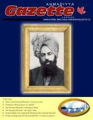 March/April 2008 - Ahmadiyya Gazette Canada