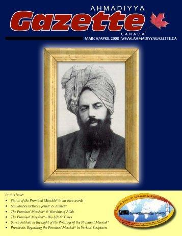 March/April 2008 - Ahmadiyya Gazette Canada