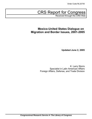 Mexico-United States Dialogue on Migration and Border Issues ...