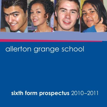 One year courses - Allerton Grange High School