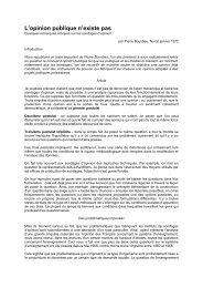 L'opinion publique n'existe pas » de Pierre ... - Centrebombe.org