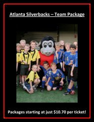 Have Your Soccer Team Party at an Atlanta Silverbacks game