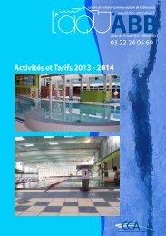 Activités et Tarifs 2013 - 2014