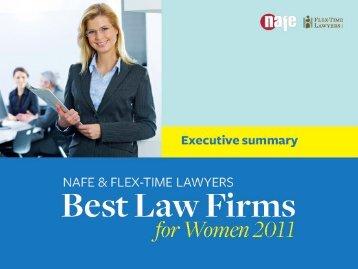 2011 Best Law Firms - Flex-Time Lawyers