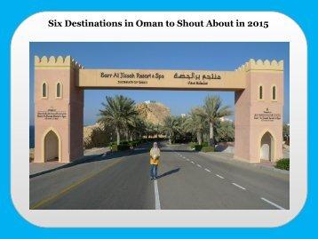 Six Destinations in Oman