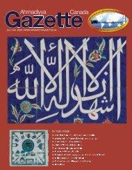January/February 2008 - Ahmadiyya Gazette Canada