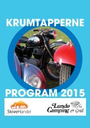 KRUMTAPPERNE PROGRAM 2015