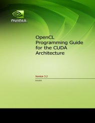 OpenCL Programming Guide for the Cuda Architecture
