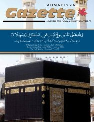 English PDF - Ahmadiyya Gazette Canada