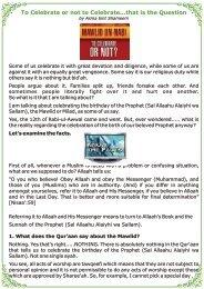 To Celebrate or not to Celebrate - Al-Huda International