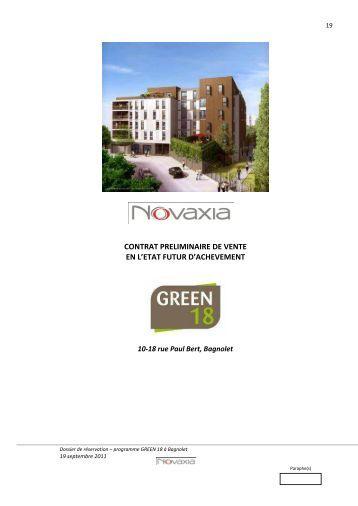 Contrat preliminaire eiffage immobilier ile de france - Vente immobiliere de l etat ...