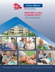 View report - The Perley and Rideau Veterans' Health Centre