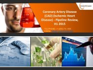 Coronary Artery Disease (CAD) (Ischemic Heart Disease) - Pipeline Review, H1 2015 Market Size, Trends, Growth