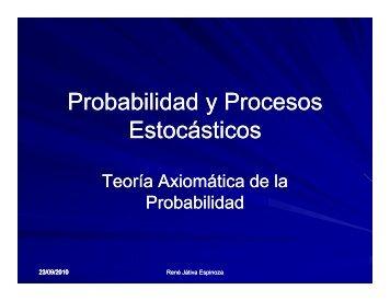 P b bilid d P Probabilidad y Procesos Estocásticos