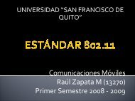 ESTANDAR 802.11 - Universidad San Francisco de Quito