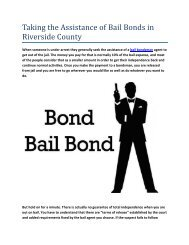 Taking the Assistance of Bail Bonds in Riverside County