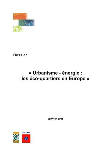 énergie : les éco-quartiers en Europe - Energy Cities