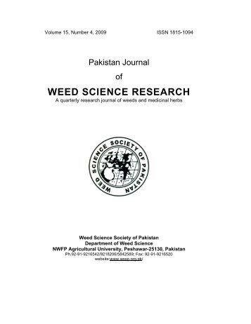 Weed suppression by higher seeding rate and row ... - Wssp.org.pk