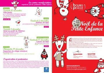 Programme du Noël de la Petite Enfance - Ville de Bourg de Péage