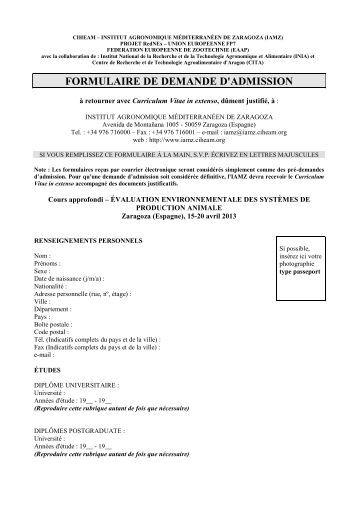 demande d u0026 39 admission