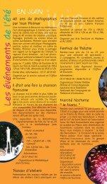 Les événements de l'été - Saint-Seurin-sur-l'Isle
